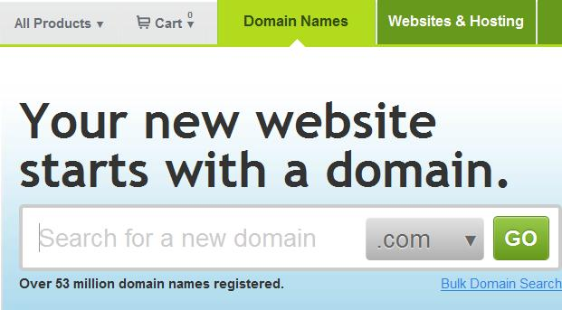 Image Domain registration process to register domain name with Godaddy
