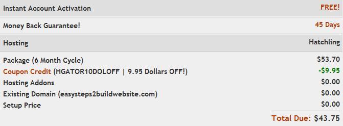 Image for hostgator coupon code HGATOR10DOLOFF