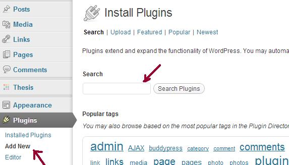 Install WordPress plugins from dashboard