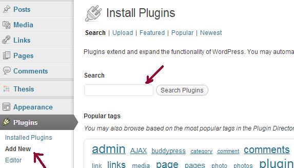 Install WordPress plugins from dashboard