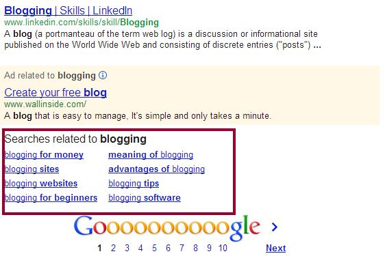 Search-engine-related-keywords-results