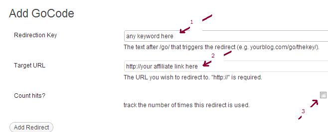 Add redirect to cloak affiliate links