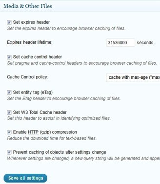 browser cache settings mediafiles