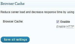 general settings browser cache