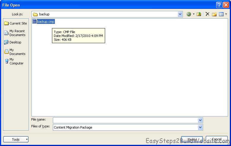 locate path for cmp file