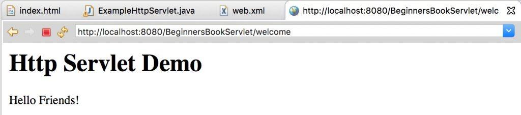 Http Servlet Output2
