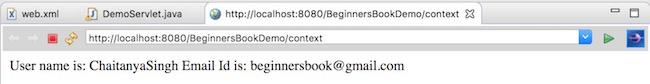 ServletContext Output