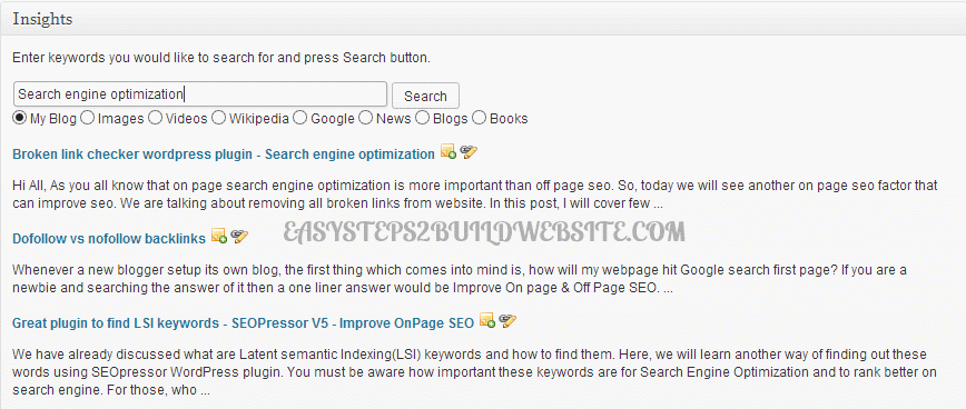 insights wordpress plugin for interlinking posts