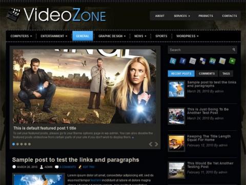 Free Responsive Portfolio WordPress Themes - VideoZone