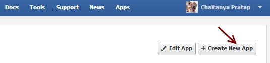 Create New Facebook App