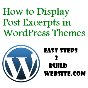 add post excerpts in WordPress