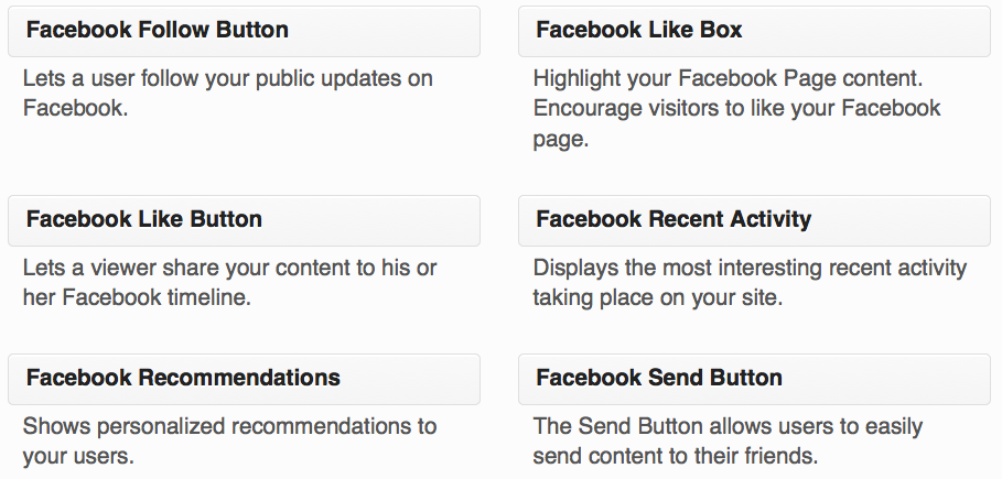 Facebook like box/Fan box widget
