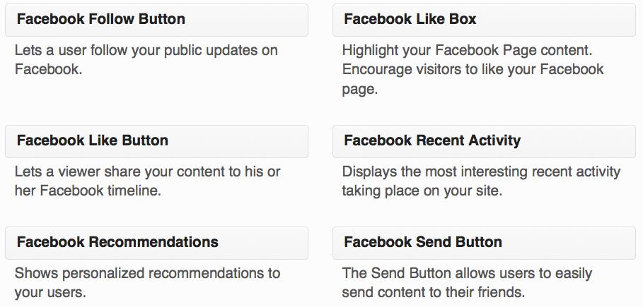 Facebook like box/Fan box widget