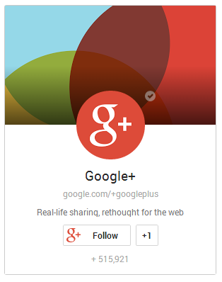 portrait layout Google plus badge