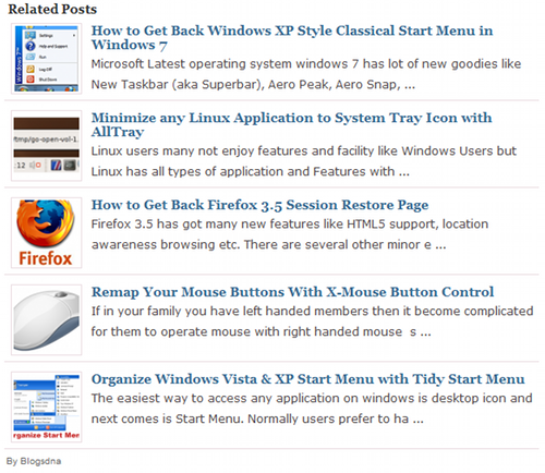 Related Posts with thumbnails for WordPress