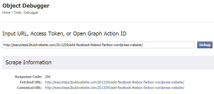 object-debugger-open-graph-appid-facebook-open-graph-debugger
