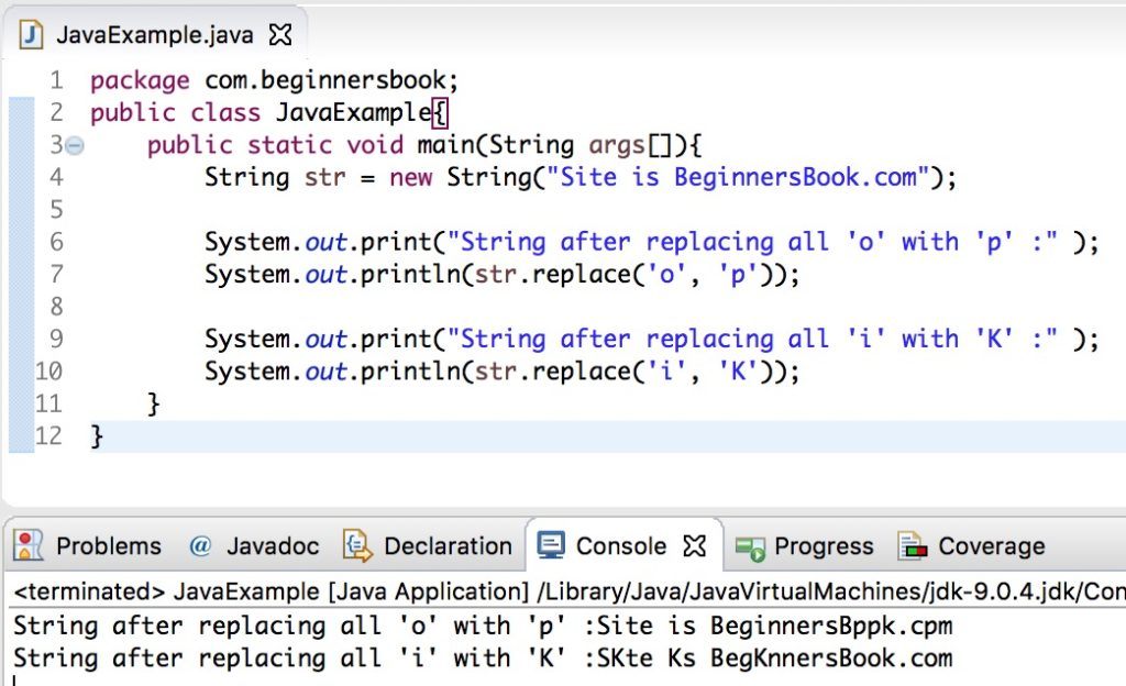 Java String replace(), replaceFirst() and replaceAll() method