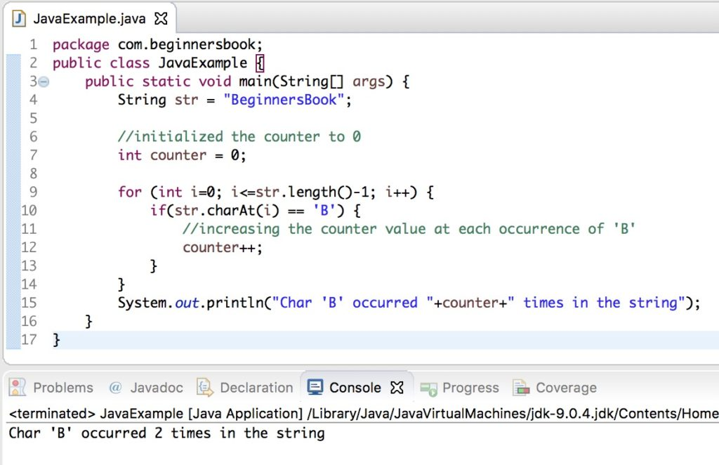 Java String charAt() example