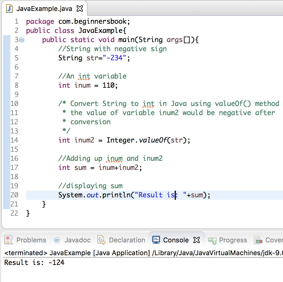 Convert String to int in Java using valueOf()