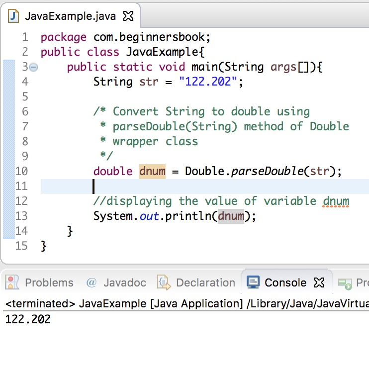 Java Convert String to Double examples