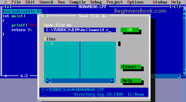 How To Install Turbo C Compile And Run A C Program