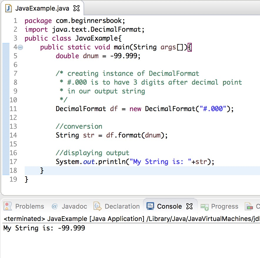 Java Convert Double To String Example