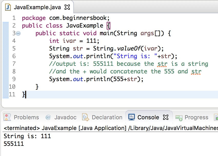 Java Int to String conversion