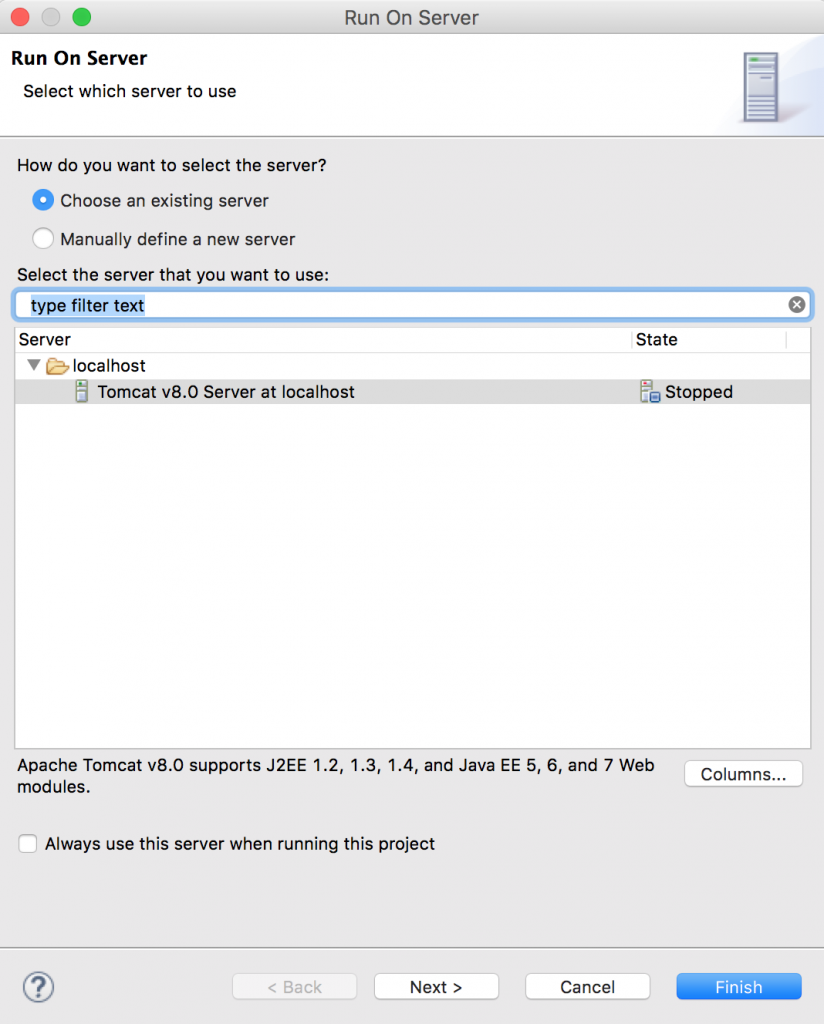How to run JSP in Eclipse IDE using Apache Tomcat Server