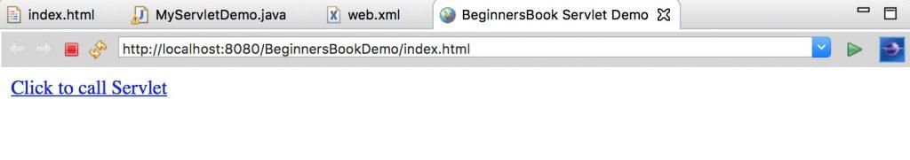 Servlet index page