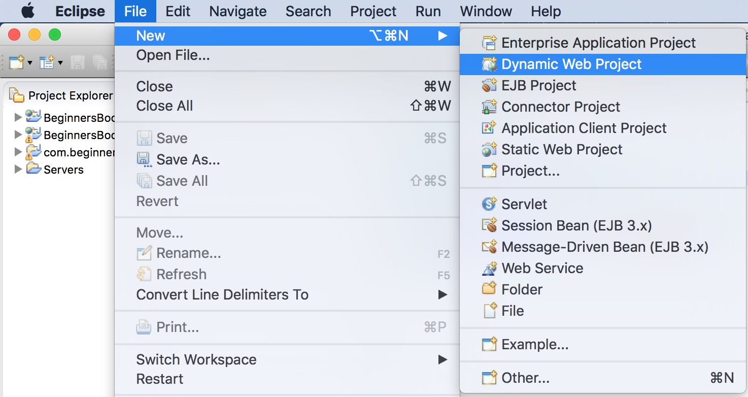 How to create and run Servlet in Eclipse IDE