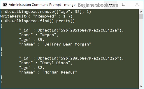 Deleting only one document MongoDB