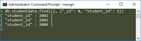 MongoDB Projection Example