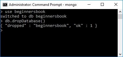 MongoDB drop database