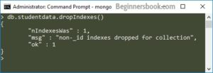 MongoDb Dropping all indexes