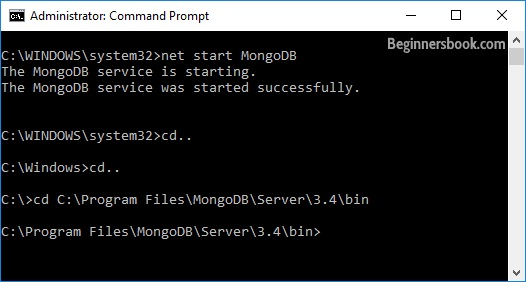 Starting MongoDB Service