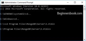 command prompt mongodb configure