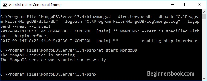 Start MongoDB as Service