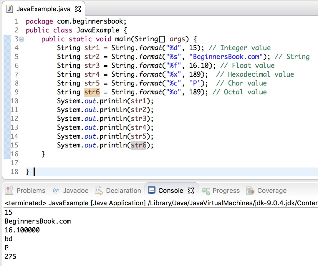 Java String format() method explained with examples