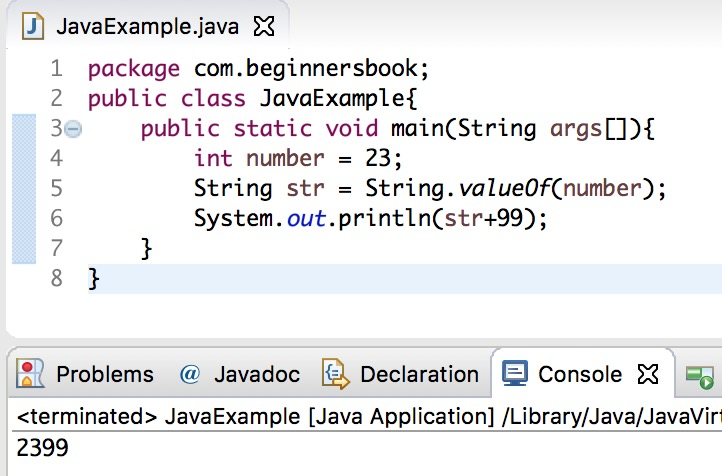 java string valueof method example