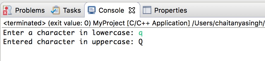 C++ convert lowercase char to uppercase