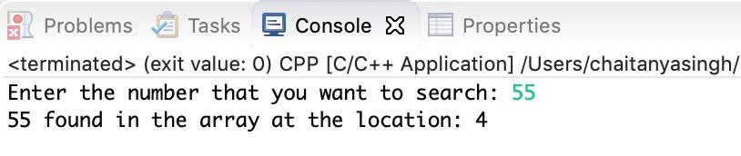 C++ Program for Binary Search