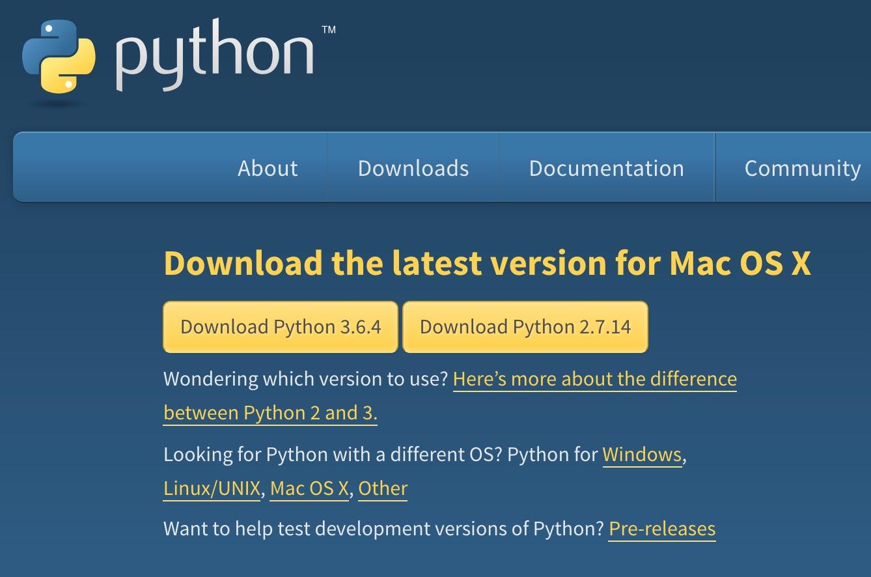 Python install for mac