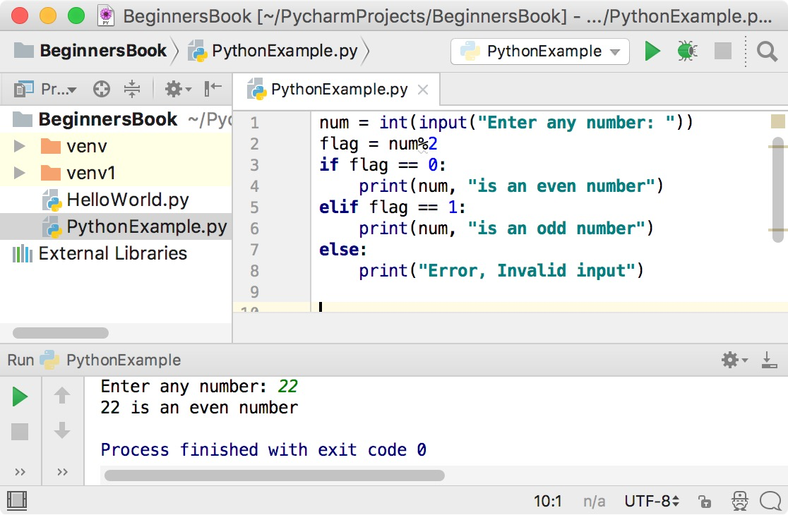 Python Program to Check If number is Even or Odd
