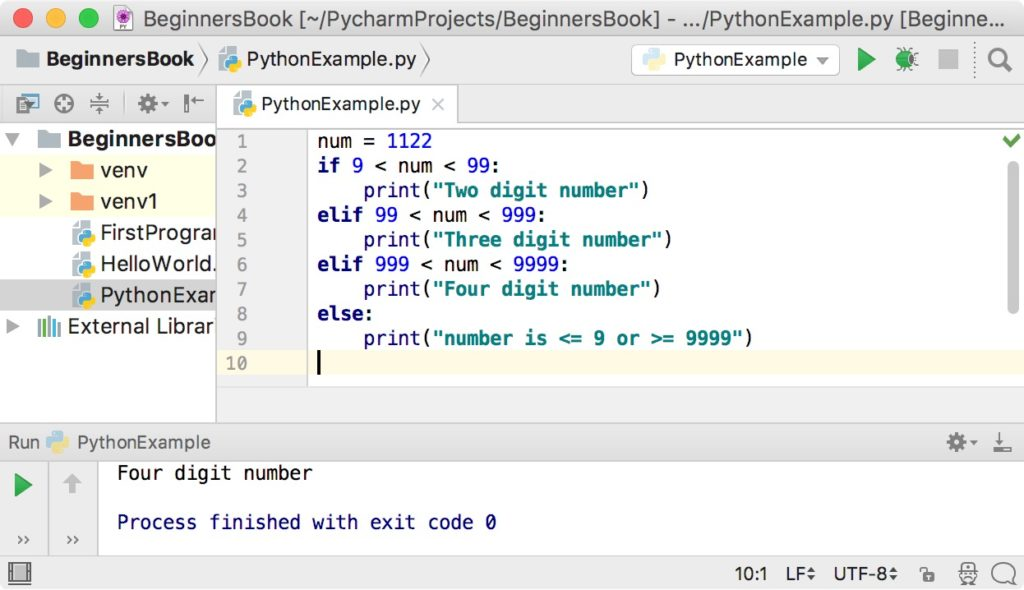 Python if elif else statement