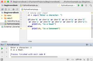 Python Program Check Vowel Consonant