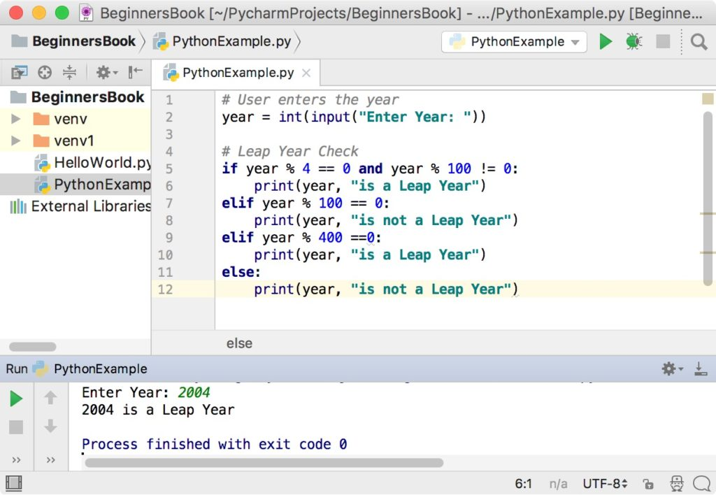 Python Program to check leap Year