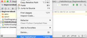 Run the first python program