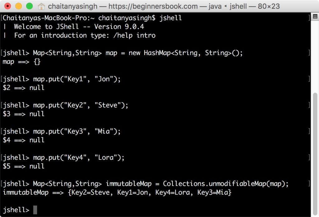 Java 9 Factory Methods to create immutable Map