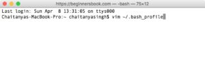Set Java_Home on Mac OS Step 1