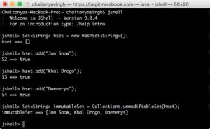 Non Empty immutable Set before java 9